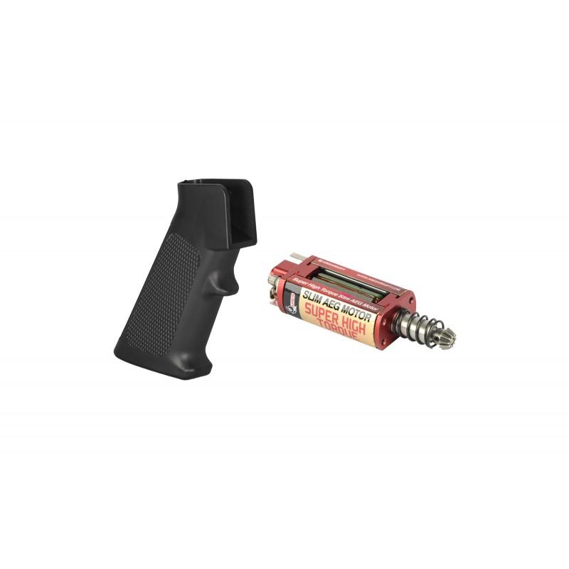 M4 Slim Pistol Grip + Super High Torque Slim AEG Motor